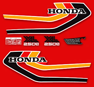 1978 Honda XL250S decals