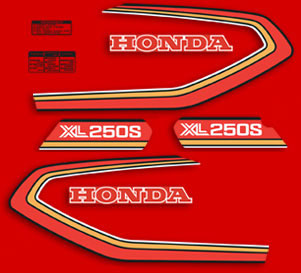 1980 Honda XL250S decals